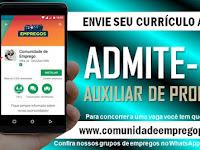 AUXILIAR DE PRODUÇÃO VAGAS PARA PORTADORES COM NECESSIDADES ESPECIAIS