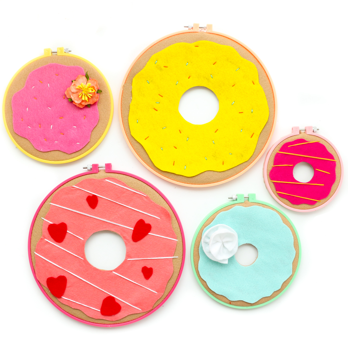 Make It - Donut Embroidery Hoop Wall Art - A Kailo Chic Life