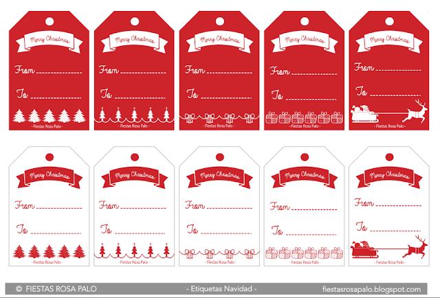 etiquetas navidad descargar gratis imprimir regalo