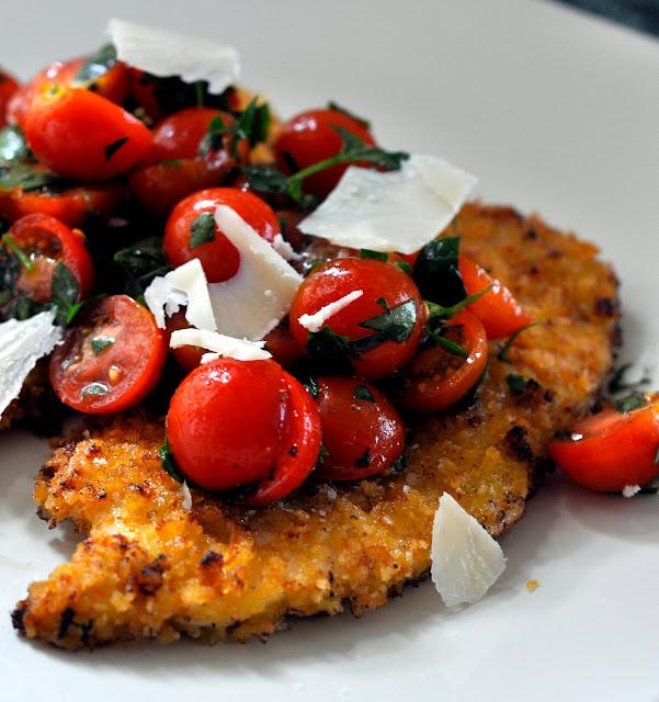 Spicy-Chicken-Milanese-Tomato-Salad-Parmesan-tasteasyougo.com