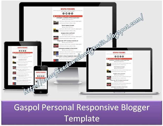 Gaspol Personal Responsive Blogger Template