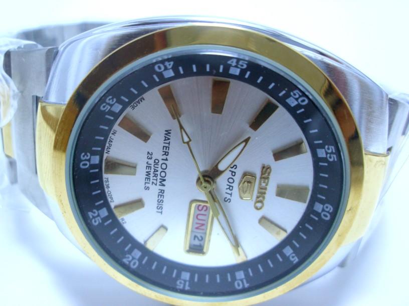 Arloji: Jam Tangan Seiko Fitur Tanggal dan Hari