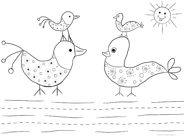 Gossip Time Coloring Page
