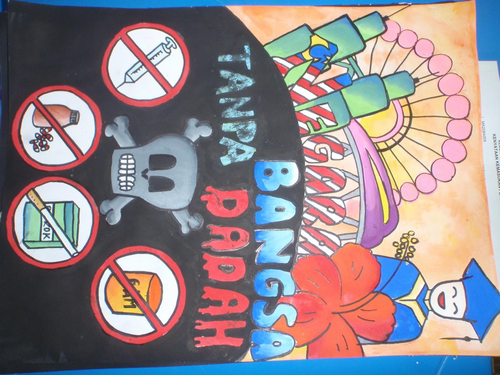 Contoh Gambar Lukisan Poster Anti Dadah Dev Gaol