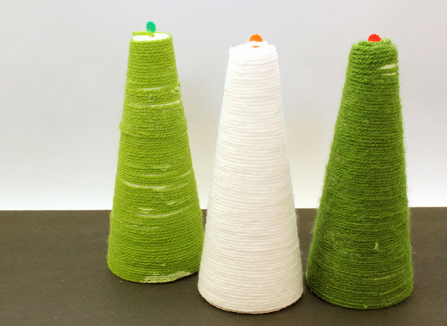 Yarn+Wrapped+Christmas+Trees Kids Craft: Yarn Wrapped Christmas Trees 19