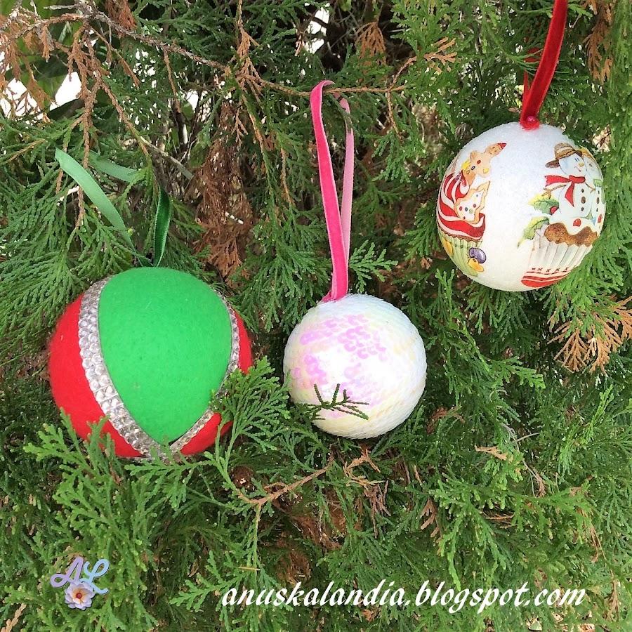 Cómo-hacer-tus-propias-bolas-navideñas-tres-diferentes-Anuskalandia