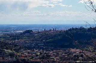 View of Bergamo from above Boscalgisi.