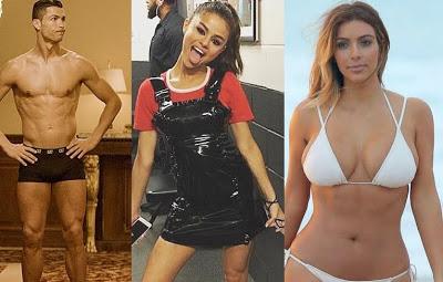 Cristiano Ronaldo, Selena Gomez, Kim Kardashian & Kylie Jenner earn over £300k per post they put up on Instagram - Hopper