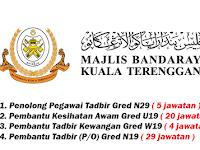 Jawatan Kosong di Majlis Bandaraya Kuala Terengganu MBKT - 58 Kekosongan Dibuka
