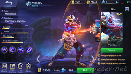 Moskov - Yasha Skin ML Season 7