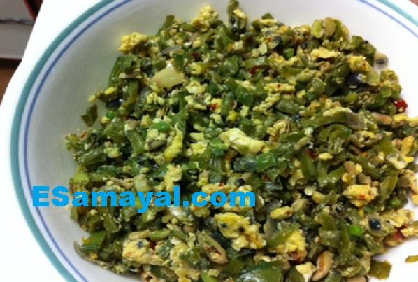 அவரைக்காய் முட்டை பொரியல் செய்முறை   Broadbeans Egg Frying Recipe !
