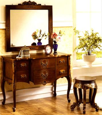 contoh meja rias model klasik