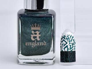 Regular nail polish stamping swatches /  [A-England] Saint George, スタンピングネイル