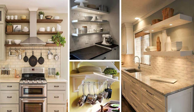Add shelves in your kitchen, they look amazing
