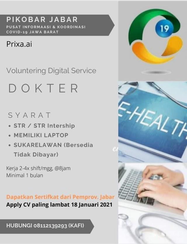 Voluntering Digital Service Dokter (PIKOBAR JABAR-Pusat Informasi & Koordinasi Covid-19 Jawa Barat)