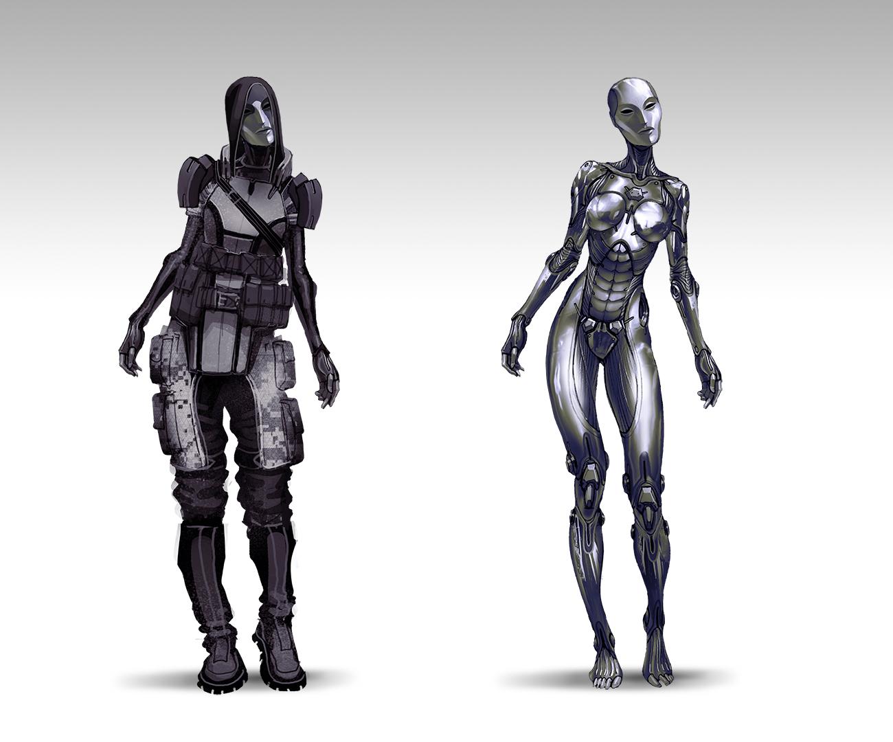 Bioware Shares Early Concept Artalientali Designs For Mass Effect