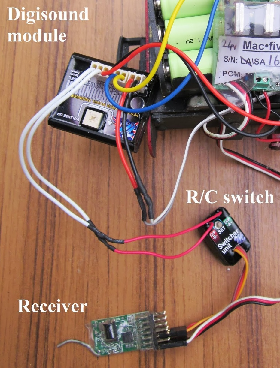 Peckforton Light Railway Triggering Soundcards With Deltang Receivers Diesel Sound Effect Generator Circuit Schematic Diagram Alternatively It Is Possible To Buy Switching Units Which Can Be Connected The Pins Of Receiver Carry Out