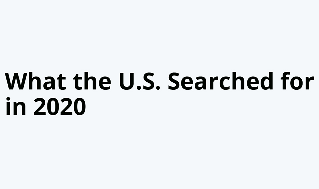 The U.S. and its topmost Google searches in 2020