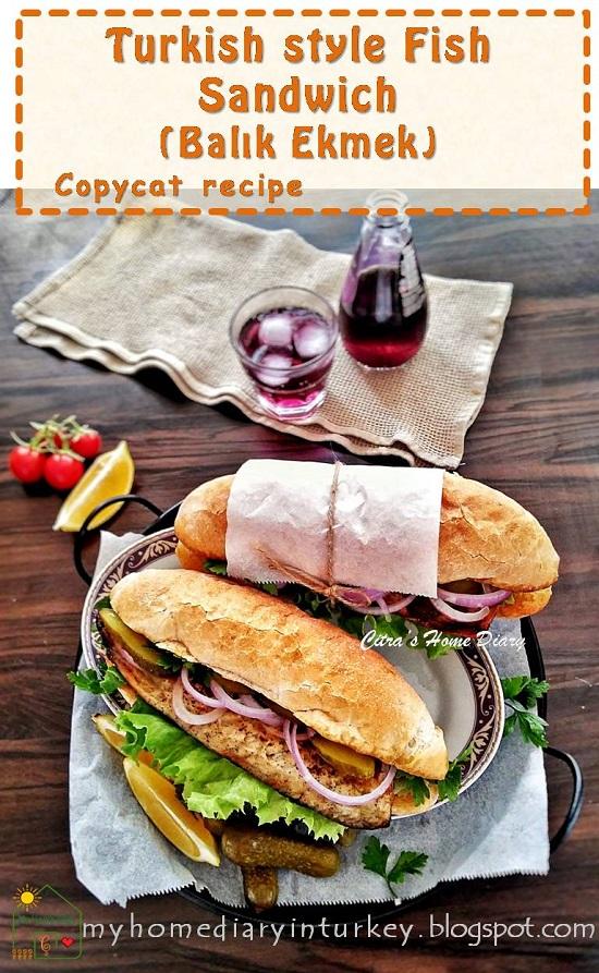 BALIK EKMEK / ISTANBUL STREET FLAVOR, FISH SANDWICH | Çitra's Home Recipe. #balıkekmek #fishandseafoodrecipe #fishsandwich #turkishfoodrecipe #travelling #streetfood #istanbulstreetfood #resepikan