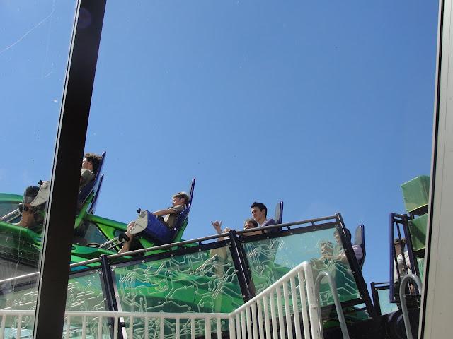Montanha-russa X-Scream, na Torre do Stratosphere.