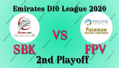 Who will win SBK vs FPV 2nd Play-Off T10 Match