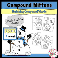 Free Compound Mittens. 9 compound words included