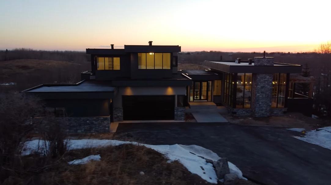 71 Interior Design Photos vs. Tour 105 Silverhorn Ridge, Rural Rocky View County, AB Luxury Home