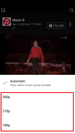 facebook app hd video quality