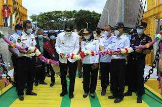 Launching Pelayaran Perdana KMP Kaldera Toba, Rute Muara-Onan Runggu