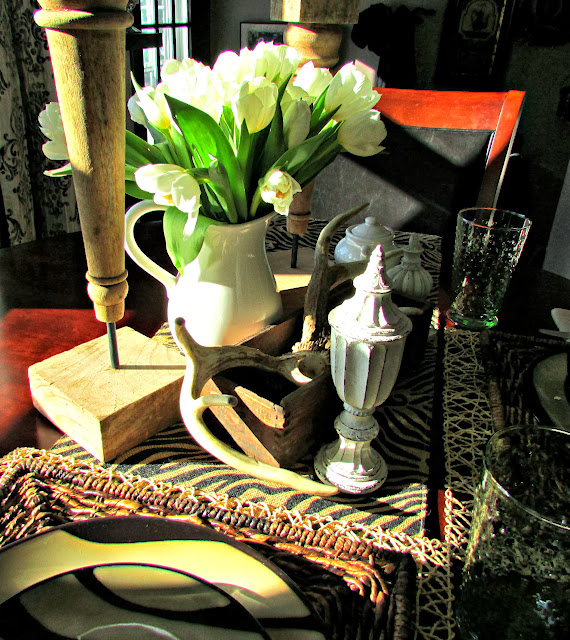Antlers & Zebra Tablescape for any season