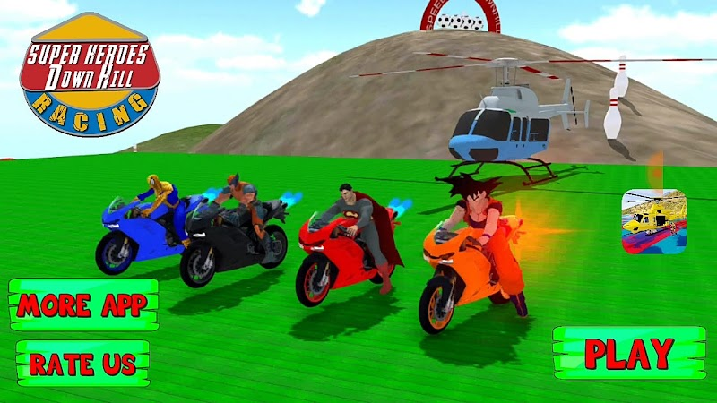 Top Android Games - Super hero bike extreme jump downhill