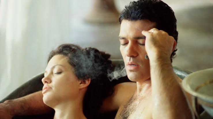 A man and a woman in a bathtub