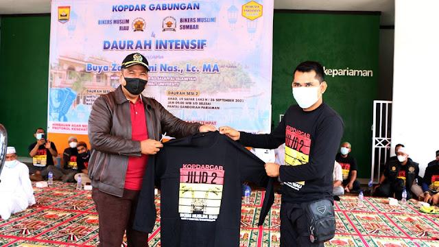 Bikers Muslim Sumbar-Riau kumandangkan Asma Allah di Pantai Gandoriah
