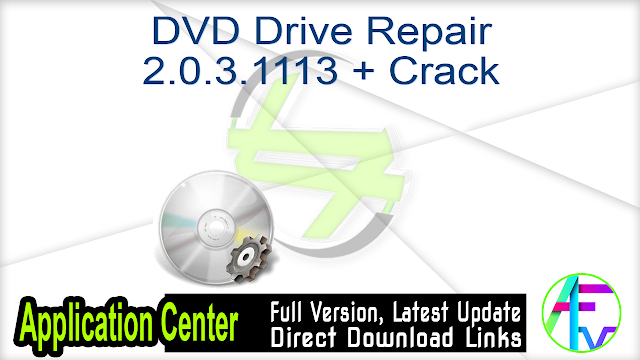 DVD Drive Repair 2.0.3.1113 + Crack