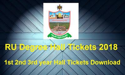 Manabadi RU Degree Hall Tickets 2018 Download, Schools9 RU UG Hall Tickets 2018