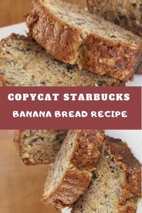 Copycat Starbucks Banana Bread