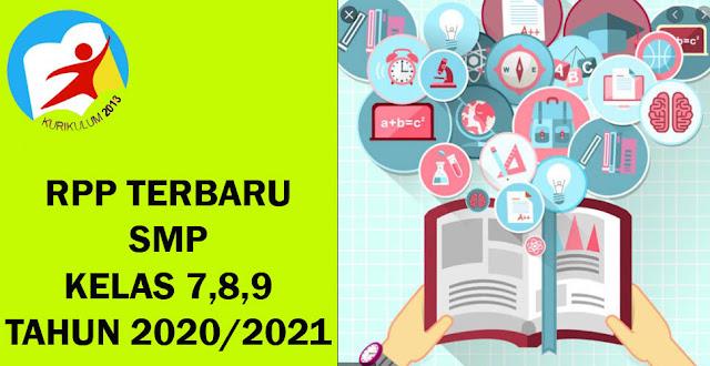 Update Download RPP 1 Lembar Matematika SMP Kelas 7, 8, 9 Terbaru Kurikulum K-13 tahun Ajaran 2020/2021