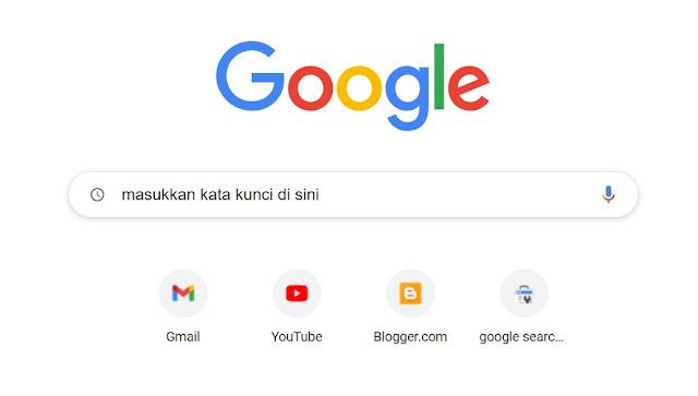 Masukkan Kata Kunci di Sini untuk menemukkan jafarull.com di pencarian google
