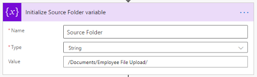 3. Initialize Source Folder variable