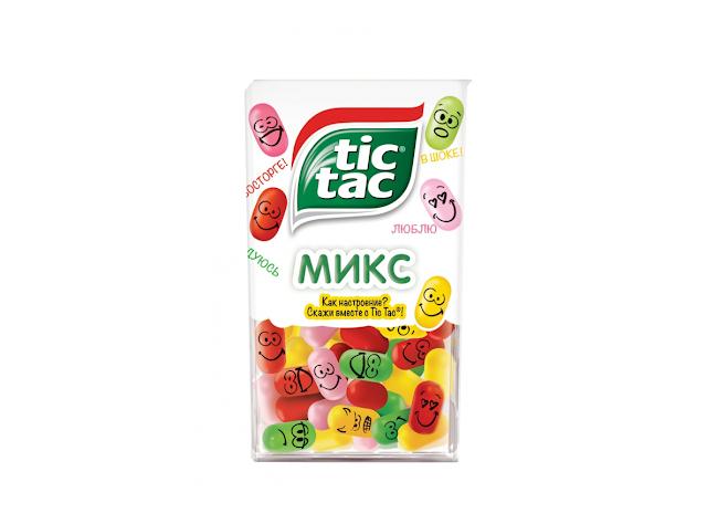 Новый TicTac «Микс», Новый Тик Так «Микс» состав цена стоимость пищевая ценность