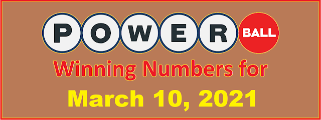 PowerBall Winning Numbers for Wednesday, March 10, 2021