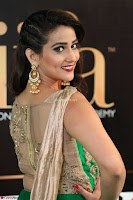 Manjusha in Beautiful Sleeveless Green Anarkali dress at IIFA Utsavam Awards 010.JPG