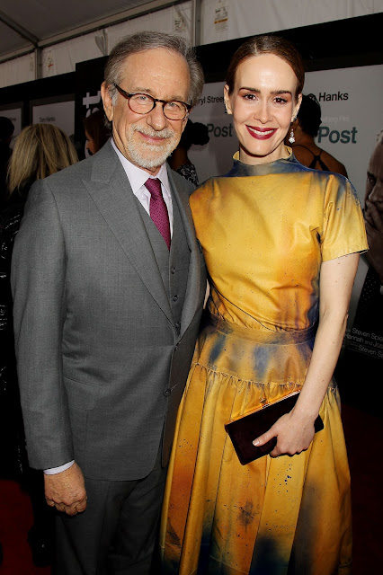 Steven Spielberg and Sarah Paulson