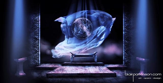 Set Design for Britten's chamber opera The Rape of Lucretia