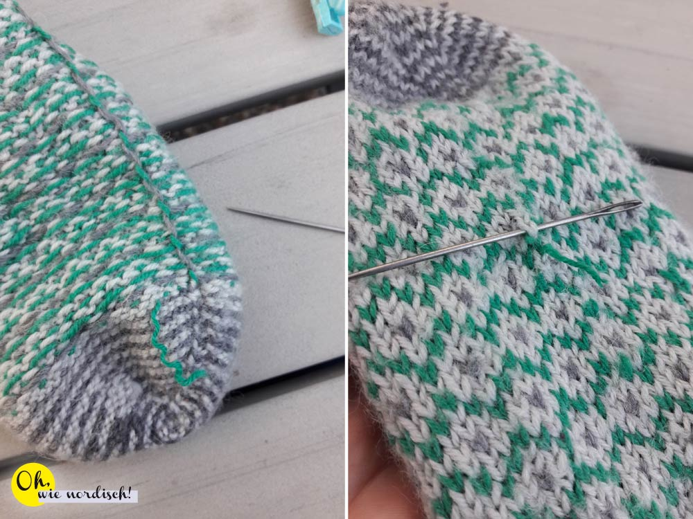 Wollsocken reparieren