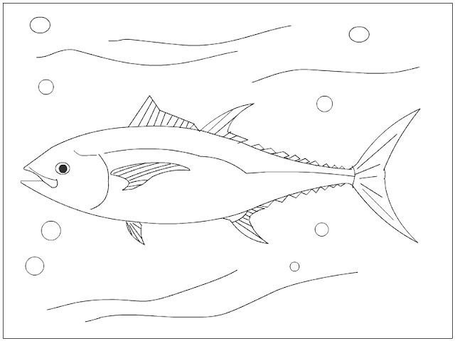 Bluefin Tuna Coloring Page