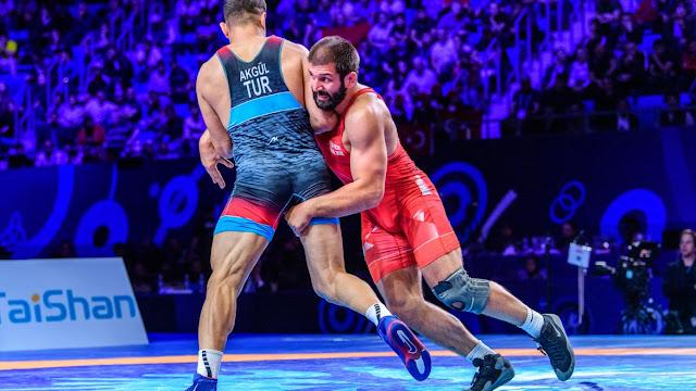 Geno Petriashvili (GEO) Taha Akgül (TUR) Wrestling