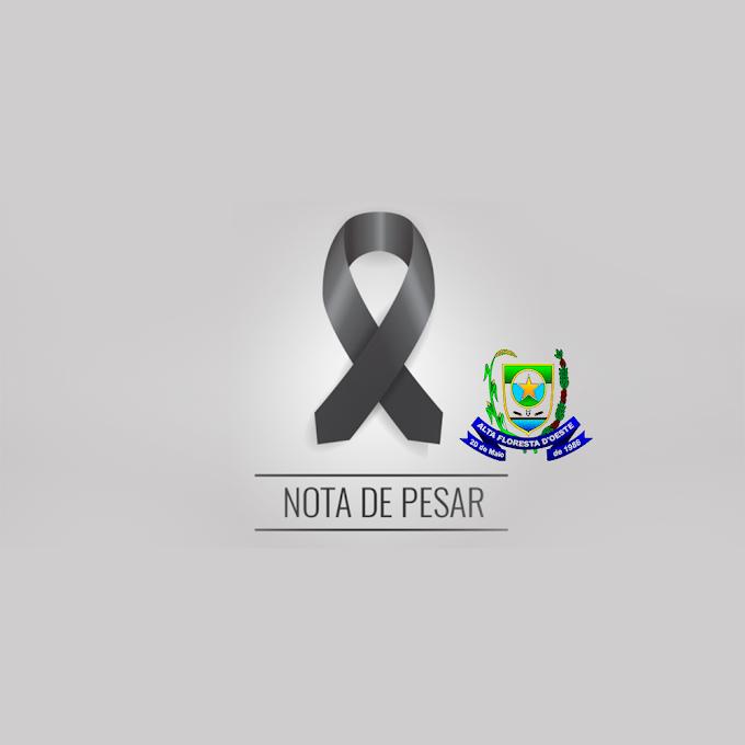 Nota de pesar da Prefeitura Municipal de Alta Floresta D'Oeste pelo falecimento de Heitor Moreira Ugolini