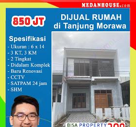 Rumah dijual di kota Tanjung Morawa didalam Komplek <del>Rp 1 Miliar </del> <price>Rp. 850 Jt </price> <code>rumahdikotatanjungmorawa</code>
