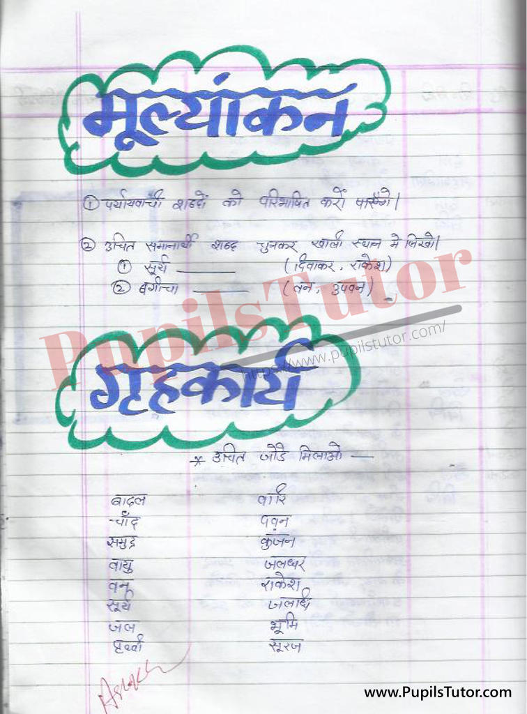 Samanarthi Shabd Lesson Plan in Hindi for B.Ed/DE.LE.D |  समानार्थी शब्द पाठ योजना हिंदी